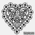 Лезвие Die-Versions - Whispers - Heart of Hearts, размер 9,2х9,2 см - ScrapUA.com