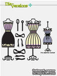 Набор лезвий Die-Versions - Whispers - Dress Form Duo - ScrapUA.com