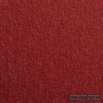 Дизайнерский картон с фактурой микро вельвета Dali bordeaux, размер: 30х30 см, цвет: красный вишневый, плотность: 285 г/м2 - ScrapUA.com