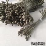 Тычинки, цвет серо-коричневый, диаметр 1.5 мм, 50 шт. - ScrapUA.com
