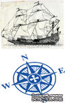 Доска для тиснения Sailing Ship/Compass от Cheery Lynn Designs - ScrapUA.com