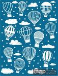 Пластина для эмбоссинга от Cheery Lynn Designs - Hot Air Balloons and Clouds Embossing Plate - ScrapUA.com