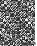 Пластина для эмбоссинга от Cheery Lynn Designs - Clocks Embossing Plate - ScrapUA.com