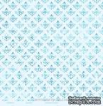 """Лист бумаги с глиттером от Евгения Курдибановская TM - """"Голубой"""", 30х30 см - ScrapUA.com"""