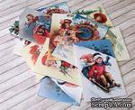 Карточки на плотном картоне от Евгения Курдибановская ТМ - Merry Christmas, 5х7 см, 12 штук - ScrapUA.com