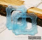 Прозрачная рамка из смолы №1 (голубая) от Евгения Курдибановская ТМ - ScrapUA.com