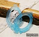 Прозрачная рамка из смолы №2 (голубая) от Евгения Курдибановская ТМ. Рамка прозрачная, голубая. Размеры: 4,5 см х 7 см. - ScrapUA.com