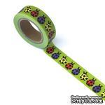Бумажный скотч Eyelet Outlet - Ladybug Washi Tape, 10 м х 15 мм - ScrapUA.com