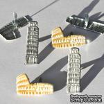 Набор брадсов Eyelet Outlet - Colosseum & Pisa Brads, 12 штук - ScrapUA.com