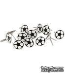Набор брадсов Eyelet Outlet - Ball Brads Soccer Balls, 12 штук - ScrapUA.com
