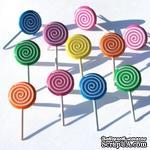 Набор брадсов Eyelet Outlet - Lollipop Brads, 12 штук - ScrapUA.com
