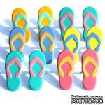 Набор брадсов Eyelet Outlet - Big Flip Flop Brads, 12 штук - ScrapUA.com