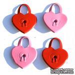 Набор люверсов Eyelet Outlet - Heart Lock Quicklets, 12 штук - ScrapUA.com