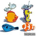 Набор брадсов Eyelet Outlet - Fun Fish Brads, 12 штук - ScrapUA.com