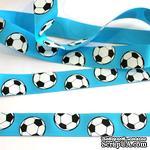 Лента Eyelet Outlet - Soccer Ribbon, ширина 18 мм, длина 90 см - ScrapUA.com