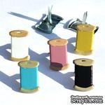 Набор брадсов Eyelet Outlet - Thread Brads, 12 штук - ScrapUA.com