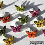 Набор брадсов Eyelet Outlet - Mini Butterfly Brads, 12 штук - ScrapUA.com