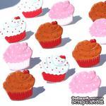 Набор брадсов Eyelet Outlet - Cupcake Brads, 12 штук - ScrapUA.com