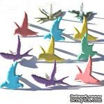Набор брадсов Eyelet Outlet - Flying Bird Brads - Pastel, 12 шт - ScrapUA.com