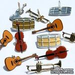 Набор брадсов Eyelet Outlet - Instrument Brads, 12 штук - ScrapUA.com