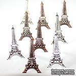 Набор брадсов Eyelet Outlet - Eiffel Tower Brads, 12 штук - ScrapUA.com