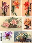 """Бумага для декупажа """"Цветы"""", размер: 28х38 см - ScrapUA.com"""