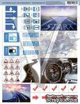 """Лист с картинками """"Автомобили"""", дизайн Елены Виноградовой, 19.5х27 - ScrapUA.com"""