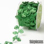 Лента Green Tropical Leaf, цвет зеленый, длина 90см - ScrapUA.com