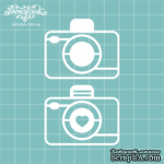 Чипборд от Вензелик - Набор фотоаппаратов, размер: 4 x 5 cм - ScrapUA.com