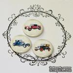 Скрап-значки (фишки). Ретро-автомобили, 3шт, F1 - ScrapUA.com