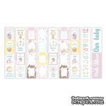 Карточки Sweet baby girl  (англ.+русск.), 5 полос, ТМ Фабрика Декору - ScrapUA.com