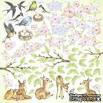 Лист с карточками для вырезания Smile of spring, ТМ Фабрика Декору - ScrapUA.com