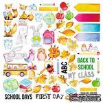 Лист с картинками для вырезания Cool School, ТМ Фабрика Декору - ScrapUA.com