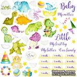 Лист с картинками для вырезания Dino baby, ТМ Фабрика Декору - ScrapUA.com