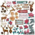 Лист с карточками для вырезания Christmas fairytales, ТМ Фабрика Декору - ScrapUA.com