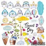 Лист с картинками для вырезания My tiny sparrow boy, ТМ Фабрика Декору - ScrapUA.com