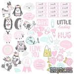 Лист с картинками для вырезания Scandi Baby Girl, ТМ Фабрика Декору - ScrapUA.com