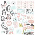 Лист с картинками для вырезания Scandi Baby Boy, ТМ Фабрика Декору - ScrapUA.com