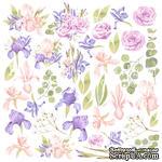 Лист с картинками для вырезания Majestic Iris, ТМ Фабрика Декора - ScrapUA.com