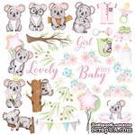 Лист с картинками для вырезания Puffy Fluffy Girl, ТМ Фабрика Декору - ScrapUA.com