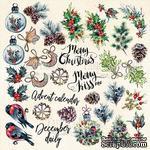 Лист с картинками для вырезания The spirit of Christmas, ТМ Фабрика Декору - ScrapUA.com