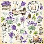 Лист с картинками для вырезания. Набор Lavender Provence, ТМ Фабрика Декору - ScrapUA.com