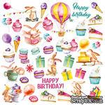Лист с картинками для вырезания Sweet Birthday, ТМ Фабрика Декора - ScrapUA.com