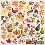 Лист с картинками для вырезания Botany autumn redesign, ТМ Фабрика Декора - ScrapUA.com