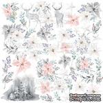 Лист с картинками для вырезания. Набор Winter melody, ТМ Фабрика Декору - ScrapUA.com