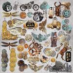 Лист с картинками для вырезания. Набор Grunge&Mechanics, ТМ Fabrika Decoru - ScrapUA.com