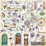 Лист с картинками для вырезания Journey to Provence, ТМ Фабрика Декора - ScrapUA.com