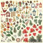 Лист с картинками для вырезания Our warm Christmas, ТМ Фабрика Декора - ScrapUA.com