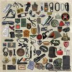 Лист с картинками для вырезания Military style 30,5х30,5 см, ТМ Фабрика Декора - ScrapUA.com