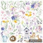 Лист с картинками для вырезания Tender spring 30,5х30,5 см, ТМ Фабрика Декора - ScrapUA.com